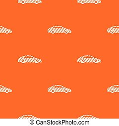 Car pattern vector orange