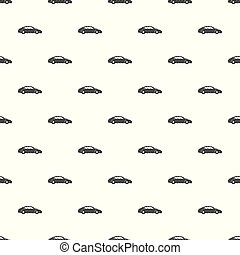 Car pattern vector seamless