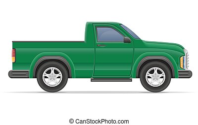 car pickup vector illustration