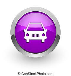 car pink glossy web icon