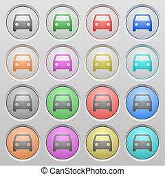 Car plastic sunk buttons