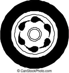 car, pneu