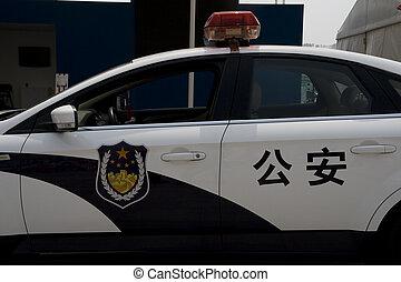 car, polícia, chinês