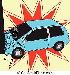 car, polaco, acidente