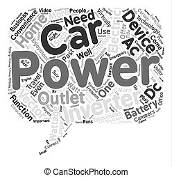Car Power Inverters An A C Outlet On The Road text background word cloud concept