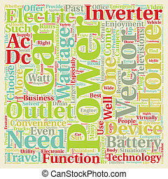 Car Power Inverters An A C Outlet On The Road text background wordcloud concept