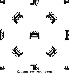 car, pretas, seamless, padrão