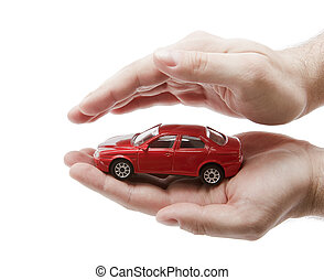 Car protection. Clipping path included