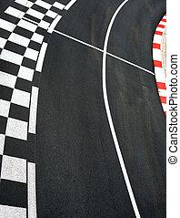 Car race asphalt and curb on Monaco Montecarlo Grand Prix street circuit