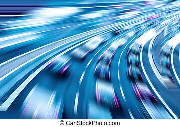 data transmission - car race, data transmission, data speed...