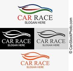 Car Race Logo