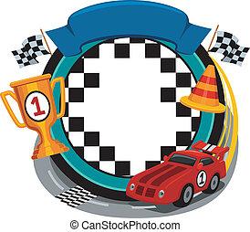 Car Racing Frame - Frame Illustration Featuring Car Racing...