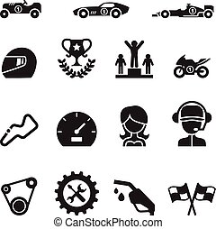 Car Racing icon set