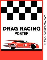 Car racing template poster vector