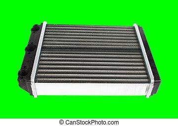 Car radiator isolated over white background
