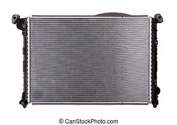 Car radiator on white background