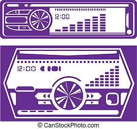 Car Radio - car radio illustration clip-art eps vector