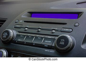car radio - car's radio and cd player