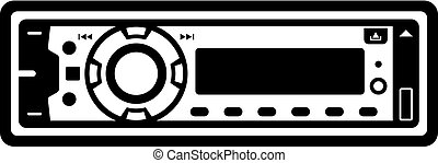 Car radio icon - Car radio, front panel