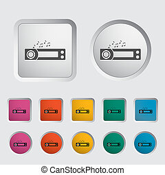 Car radio icon. Vector illustration.