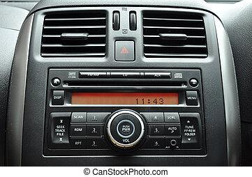 Car radio panel - Modern car interior - radio panel