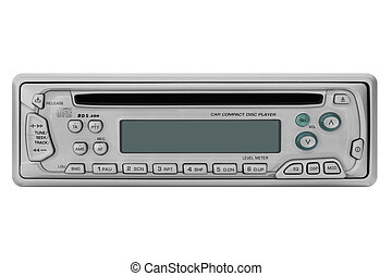 Car Radio - This image shows a front view from a car radio...