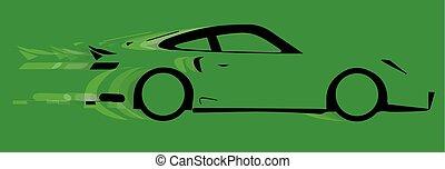 car, rapidamente, logotipo