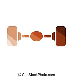 Car rear axle icon. Flat color design. Vector illustration.