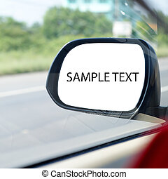 rearview mirror - car rearview mirror reflection