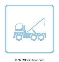 car, reboque, caminhão, ícone