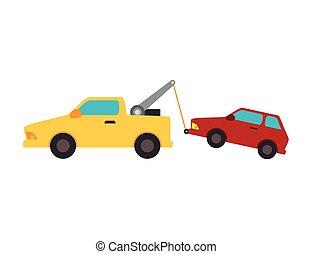car, reboque, caminhão