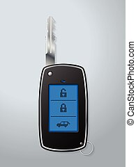Car remote key with touchscreen