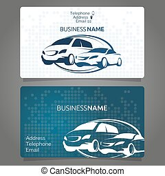 Car rental business card for the company