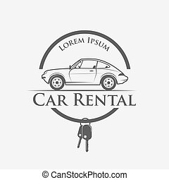 car rental logo - Car rental logo in vintage style - vector ...