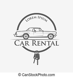 car rental logo - Car rental logo in vintage style - vector...