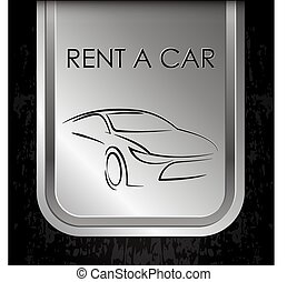 Car rental metal banner for business