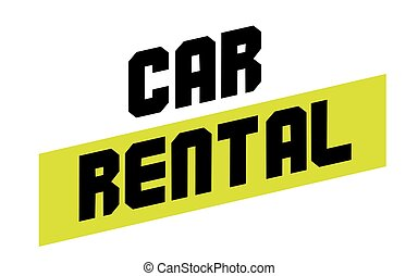 Car rental sticker