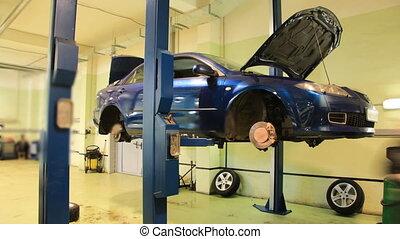 Car repair shop timelapse - Car repair shop