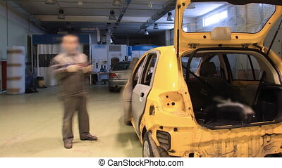 Car repair shop timelapse - Car repair shop