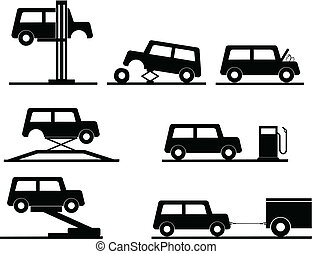 car repair vector icons