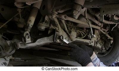 Car repairs - repair front suspension