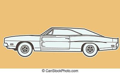 car retro coupe