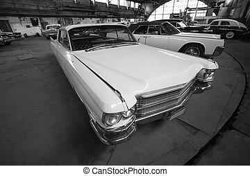 car retro in garage