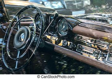 car retro interior