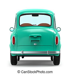 car retro small cartoon bunchy back