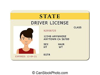 Car river licence. - Driving id licence with person photo,...
