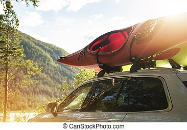 Car Road Trip with Kayak