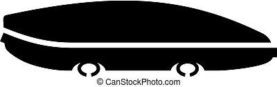 Car roof luggage (cargo) box