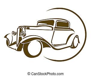 car, símbolo, antigas
