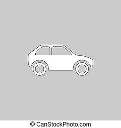 car, símbolo, computador